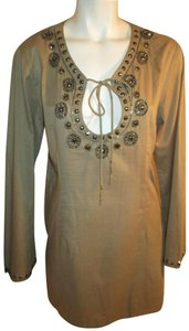 Rhona Sutton Beaded Sequin Long Sleeve Onm 001 Tunic