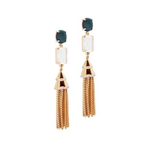 Lele Sadoughi Lele Sadoughi Fishtail Tassel Chain Earrings