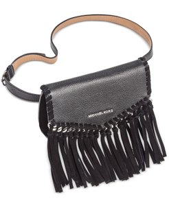 Michael Kors Michael Kors Pebbled Leather and Suede Fringe Fanny Pack Size L/XL