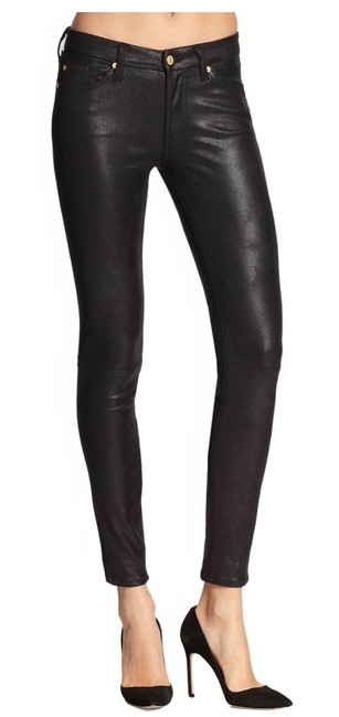 Item - Black Coated Gwenevere Skinny Jeans Size 4 (S, 27)