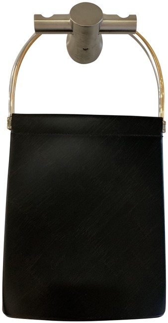 Item - Trinity Cage Rolling Rings Black Leather Wristlet