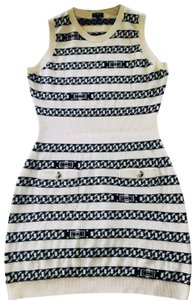 Chanel short dress white and blue on Tradesy