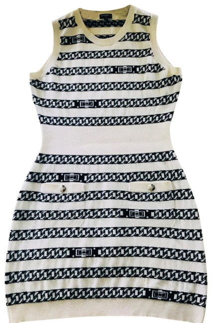 Preload https://img-static.tradesy.com/item/25359540/chanel-white-and-blue-cashmere-size40-mid-length-short-casual-dress-size-8-m-0-1-650-650.jpg