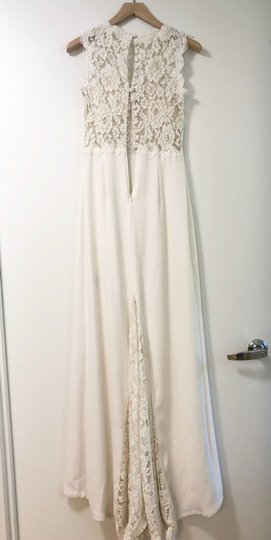 BHLDN Ivory Polyester Andora Gown Vintage Wedding Dress Size 0 (XS) Image 2