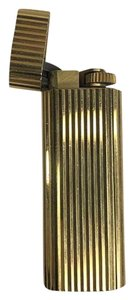Cartier Authentic Cartier Paris French Yellow Gold Plated Gas Lighter