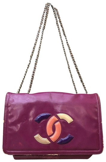 Preload https://img-static.tradesy.com/item/25359757/chanel-lipstick-colorblock-classic-chain-purple-leather-shoulder-bag-0-2-540-540.jpg