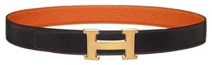 Hermès Hermes H belt buckle & Reversible leather