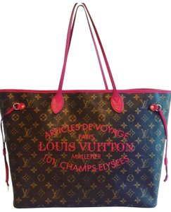 Louis Vuitton Tote in Monogram Floral Red Rose