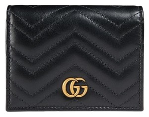 8ed30b672062 Gucci Gucci GG Marmont Quilted Leather Flap Card Case