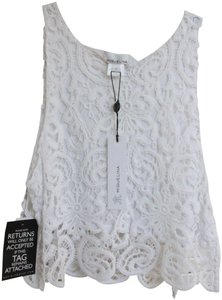 Miguelina Cotton Crochet Summer Top White