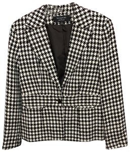 Signature by Larry Levine Jacket BLACK/WHITE Blazer