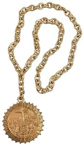 Chanel Chanel Runway Gold Tone Vintage Medallion Pendant Necklace