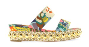 Christian Louboutin Satin Wallpaper Janitag Multicolor Sandals