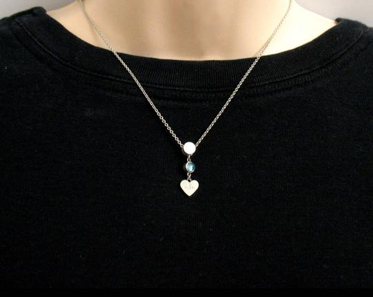 Gucci Gucci Trademark Engraved Heart & Blue Topaz Necklace Image 2
