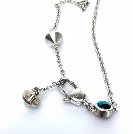 Gucci Gucci Trademark Engraved Heart & Blue Topaz Necklace Image 5