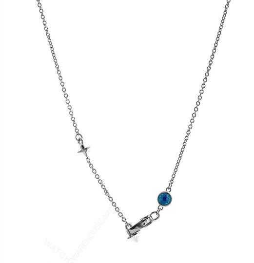 Gucci Gucci Trademark Engraved Heart & Blue Topaz Necklace Image 6