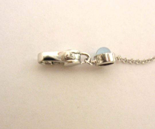 Gucci Gucci Trademark Engraved Heart & Blue Topaz Necklace Image 7