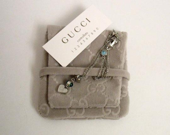 Gucci Gucci Trademark Engraved Heart & Blue Topaz Necklace Image 8
