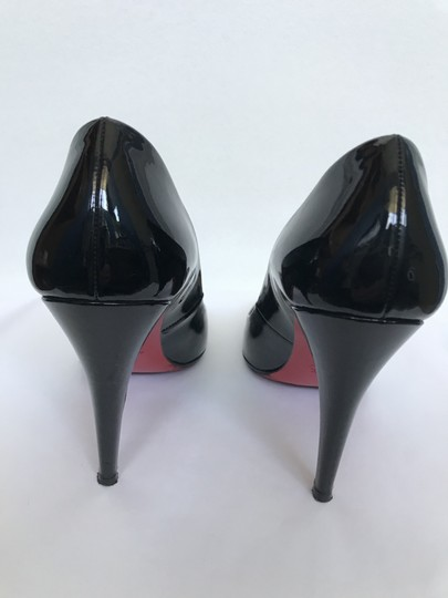Christian Louboutin Heels Square Toe Patent Leather Red black Pumps Image 1