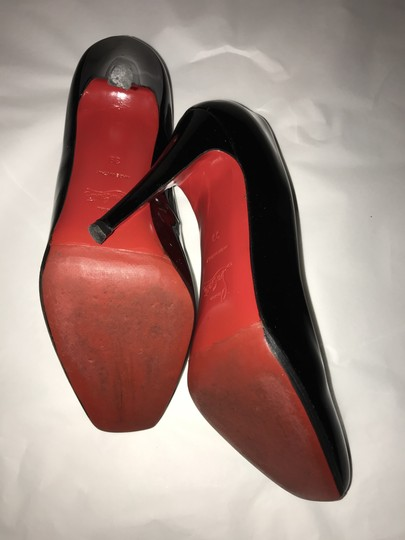 Christian Louboutin Heels Square Toe Patent Leather Red black Pumps Image 2