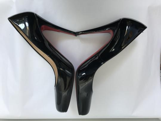Christian Louboutin Heels Square Toe Patent Leather Red black Pumps Image 4