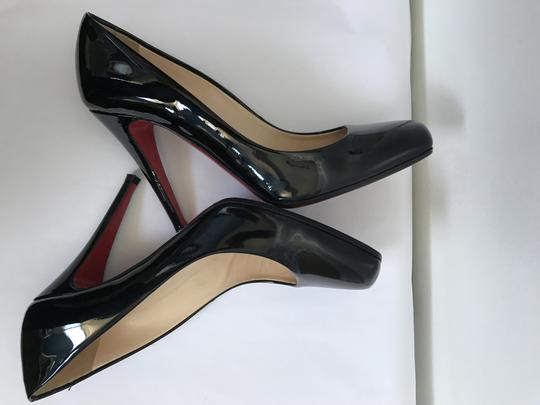 Christian Louboutin Heels Square Toe Patent Leather Red black Pumps Image 5