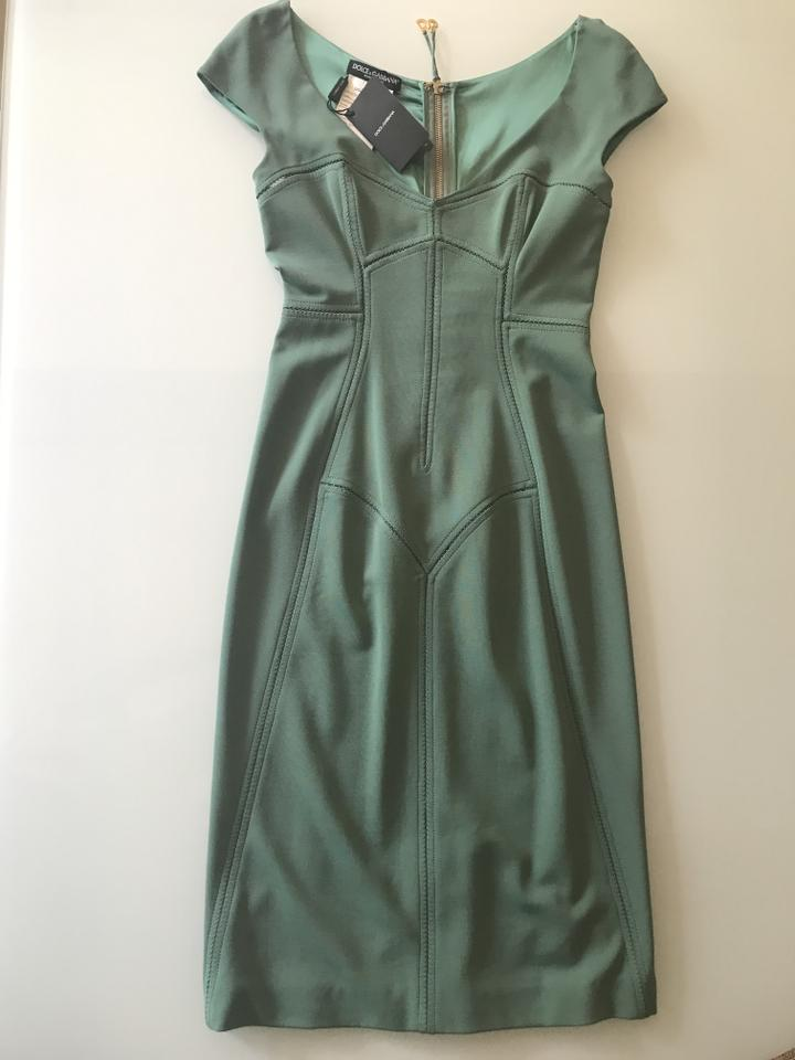 a40bcc4d Dolce&Gabbana Teal D&g Mid-length Night Out Dress Size 6 (S) - Tradesy