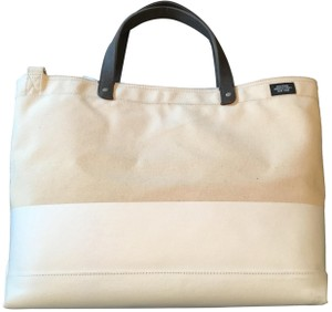 1979e7962e Jack Spade Industrial Color-blocked Imported Classc Vintage-inspired Tote  in Natural/White