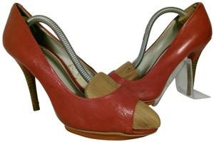 Nine West Chaney Leather RED Platforms