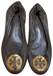 Tory Burch Chocolate brown with gold hardware Flats