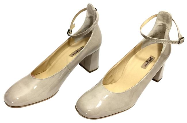 Item - Nude W Patent Leather Round W/ Ankle Straps Pumps Size US 11.5 Regular (M, B)