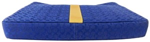 "Coach Coach Signature Voyage 14.5"" Padded LAPTOP SLEEVE/CASE Blue Jacquard"