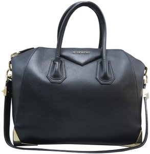 4379fccb0a Givenchy Antigona Large Black Calfskin Leather Satchel - Tradesy