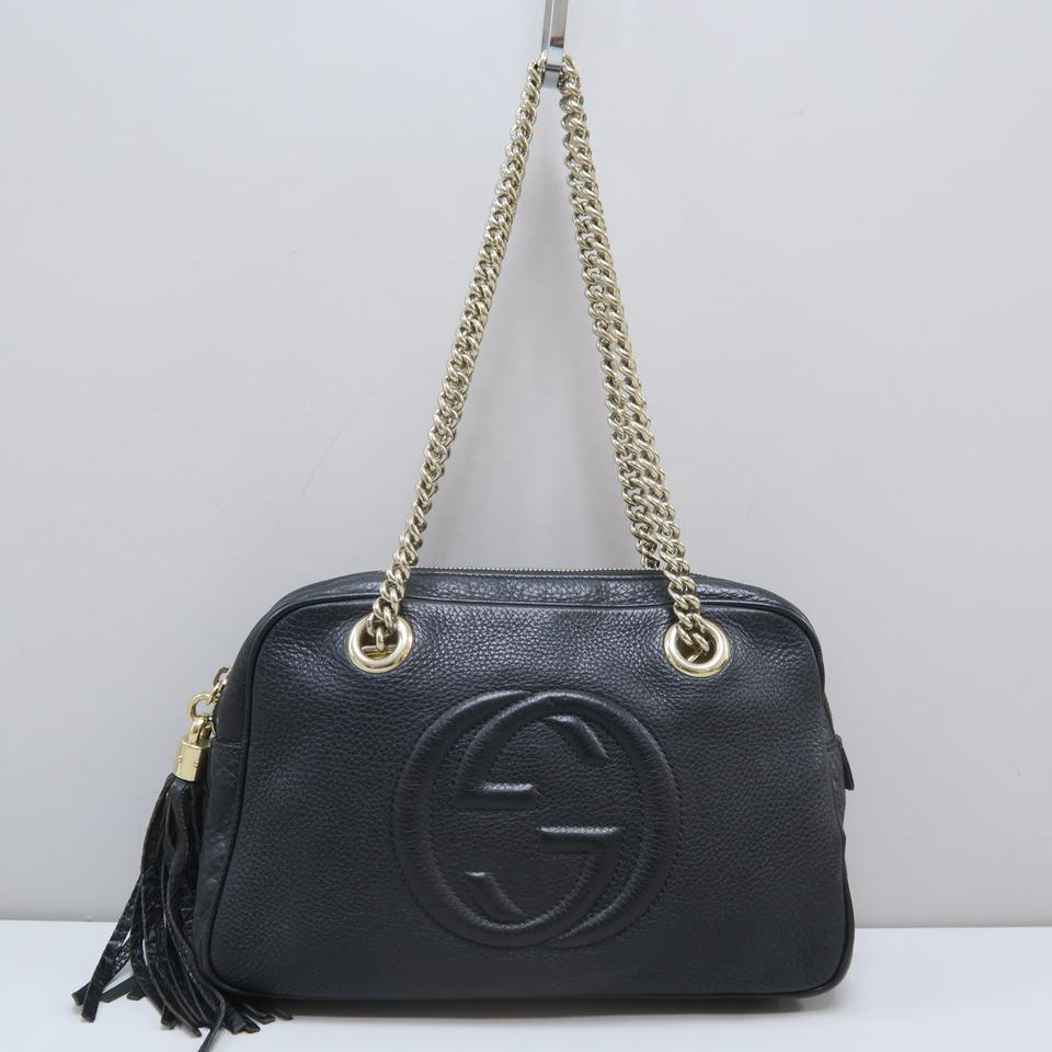 645694a87e63e9 Gucci Soho Chain Black Calfskin Leather Shoulder Bag - Tradesy
