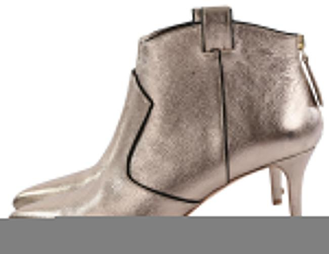 Item - Metallic Gold Pointed Toe Ankle Boots/Booties Size US 8 Regular (M, B)