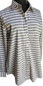 Banana Republic Button Down Shirt Grey/white