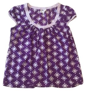 MILLY Top purple and white