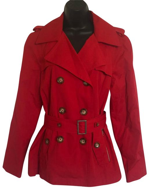 Item - Red Double Breasted Coat Size 6 (S)