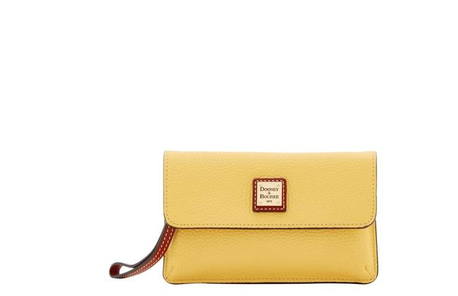 Item - Clutch Milly Zr0236 Sunset Yellow Leather Wristlet
