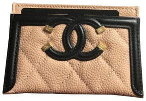 Chanel Grained Calfskin, Calfskin & Gold-Tone Metal card case