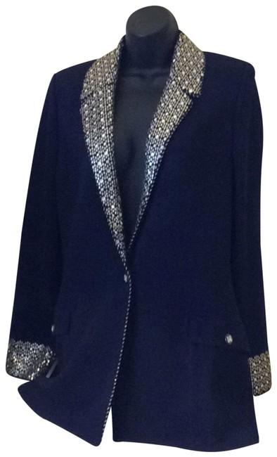 Item - Blue and Gold Evening By Marie Gray Blazer Size 12 (L)