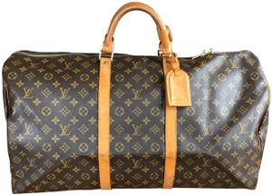 Louis Vuitton 60 Lv Keepall 60 Lv Keepall Wallet Brown Monogram Travel Bag