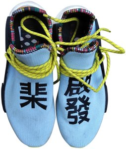 the latest 2986d 1ae55 adidas Originals = Pharrell Williams Light Blue/Yellow/Black Hu Nmd  'inspiration Pack' Sneakers Size US 9.5 Regular (M, B)