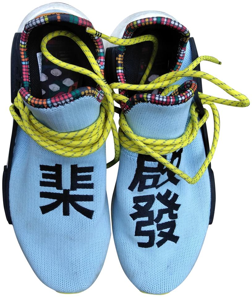 the latest 12e79 fd7b2 adidas Originals = Pharrell Williams Light Blue/Yellow/Black Hu Nmd  'inspiration Pack' Sneakers Size US 9.5 Regular (M, B)