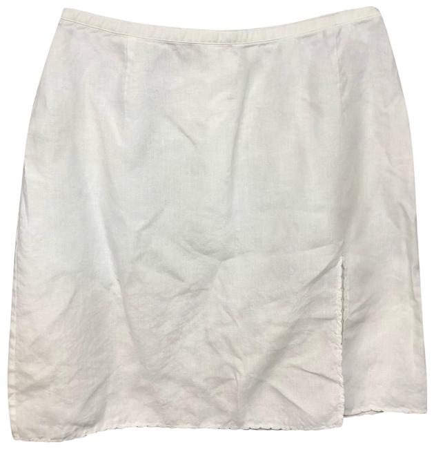 Item - White Made In Italy Linen 38 Skirt Size 2 (XS, 26)