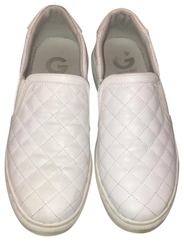 74e475fbeb0c Guess Quilted Sneakers Diamond Print Stitched White Athletic Image 0 ...
