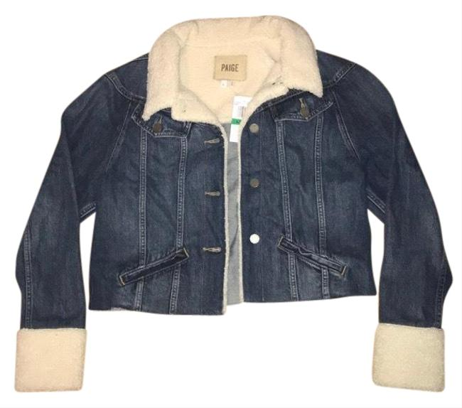 Item - Blue Tori Sherpa-trimmed Jacket Size 12 (L)