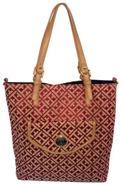 Item - Bag Monogram Jaquared Small Red Polyester Tote