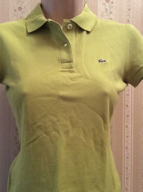Lacoste T Shirt Mint Green Image 2