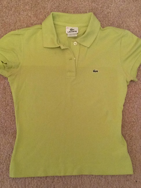 Lacoste T Shirt Mint Green Image 4